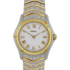 Ebel Yellow Gold Stainless Steel Classic Wave Quartz Wristwatch