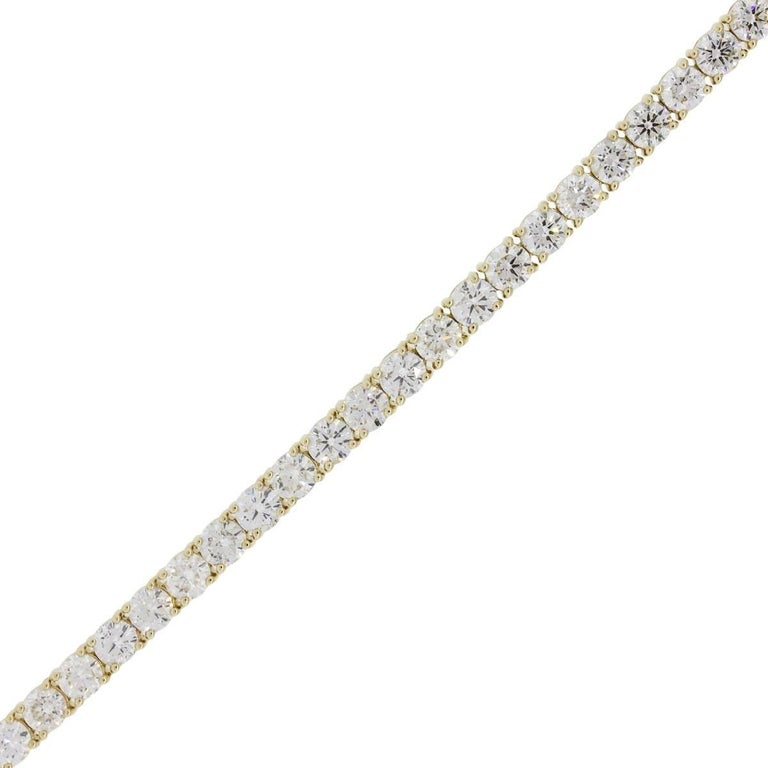 Round Brilliant Diamond Tennis Bracelet