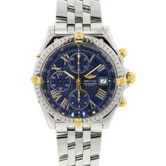 Breitling Stainless Steel Crosswind Blue Dial Automatic Wristwatch Ref B13055