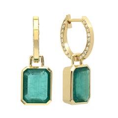 KC Sukamto Claudie Emerald Diamond Drop Earring