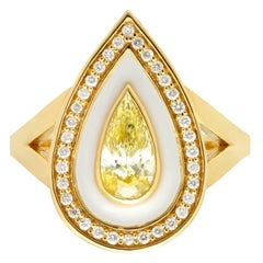 KC Sukamto Veda Natural Yellow Diamond Yellow Gold Ring