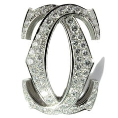 Diamond Cartier 'C de Cartier' white gold  Brooch