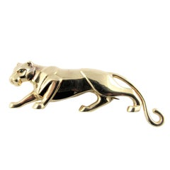 Cartier 'Panthere de Cartier' Panther Yellow Gold Brooch. Cartier Box.