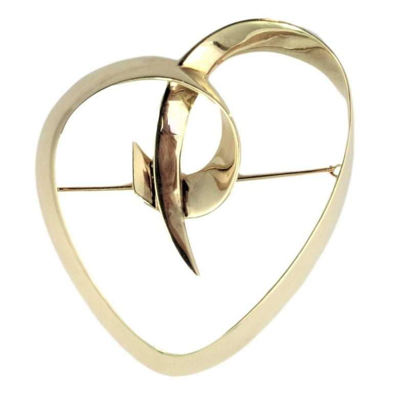 cdf2573dd92fa Tiffany & Co. Loving Heart Yellow Gold Brooch by Paloma Picasso.
