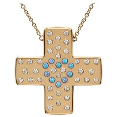 Bonds of Union ' Lights of Diamonds ' Yellow Gold Cross Pendant, Ltd Ed. 17 / 24