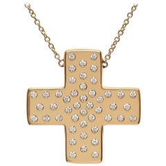 Bonds of Union ' Lights of Diamonds.' Yellow Gold Cross Pendant. Ltd Ed. 18/24