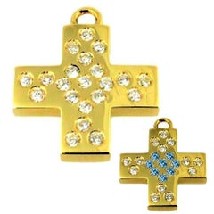 'Les Lumineuses', Love, Diamond Yellow Gold Cross Charm