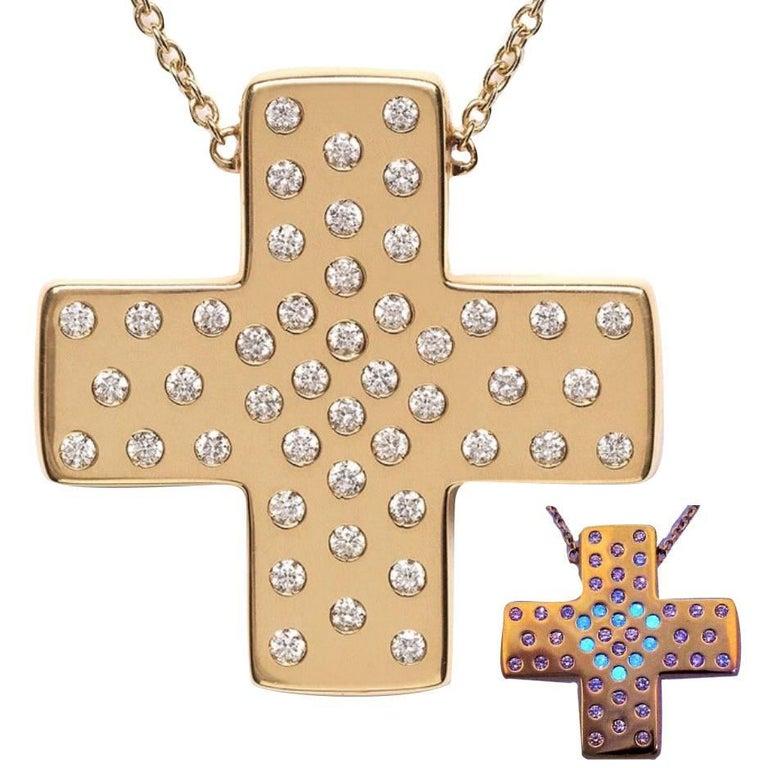 Performance art diamonds in love on yellow gold cross pendant performance art diamonds in love on yellow gold cross pendant necklace aloadofball Choice Image
