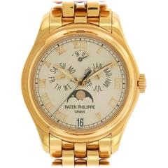 Patek Philippe Rose Gold Annual Calendar Moonphase Wristwatch Ref. 5036/1R