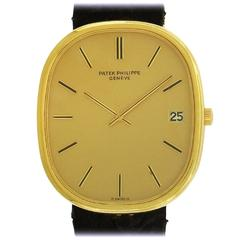 Patek Philippe Yellow Gold Golden Ellipse Automatic Wristwatch Ref 3605J