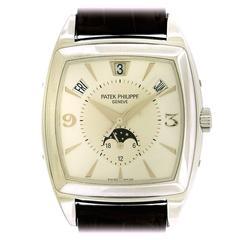 Patek Philippe White Gold Gondolo Calendario Self-Winding Wristwatch Ref 5135G
