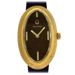 Bulova Ladies Yellow Gold Accutron Wristwatch 1973