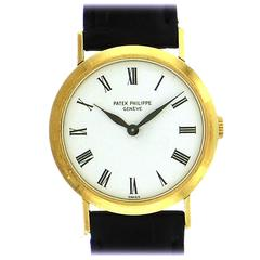 Patek Philippe Yellow Gold Ladies Calatrava Mechanical Wristwatch Ref 3888-1