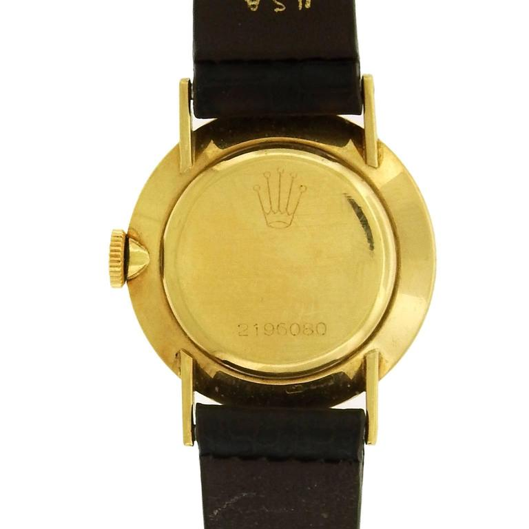 Women's Rolex Ladies Yellow Gold Precision Manual Wind Wristwatch, circa 1960s