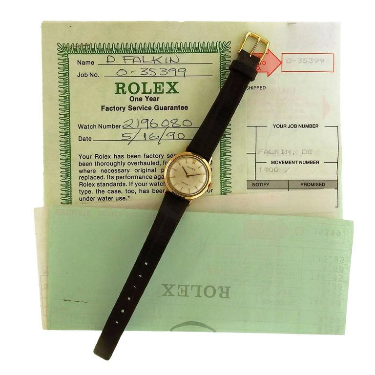 Rolex Ladies Yellow Gold Precision Manual Wind Wristwatch, circa 1960s 1