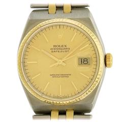 Rolex Stainless Steel Yellow Gold Oysterquartz Quartz Wristwatch Model 7013