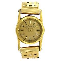 Jaeger LeCoultre Ladies Yellow Gold Bracelet Wristwatch, circa 1940s