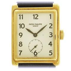 Patek Philippe Yellow Gold Gondolo Manual wind Dress Wristwatch Ref 5010J