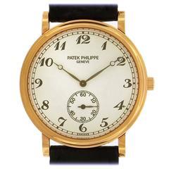Patek Philippe Rose Gold Officer's Calatrava dress manual wristwatch Ref 5022R