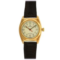 Rolex Rose Gold Bubbleback Self-Winding Wristwatch Ref 3131, circa 1945