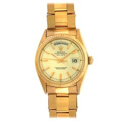 Rolex Yellow Gold Oyster Bracelet Day-Date Automatic Wristwatch Ref 1803