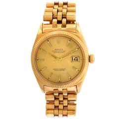 Rolex Rose Gold Datejust Jubilee Bracelet Automatic Wristwatch Ref 1601