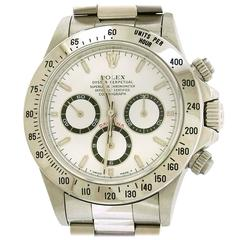 Rolex Zenith Stainless Steel Daytona Self-Winding Automatic Wristwatch