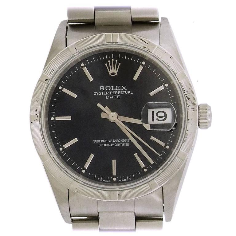 Rolex Stainless Steel Oyster Perpetual Date wristwatch Ref 15210