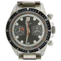 Tudor Stainless Steel Chronograph self-winding Wristwatch Ref 70330N