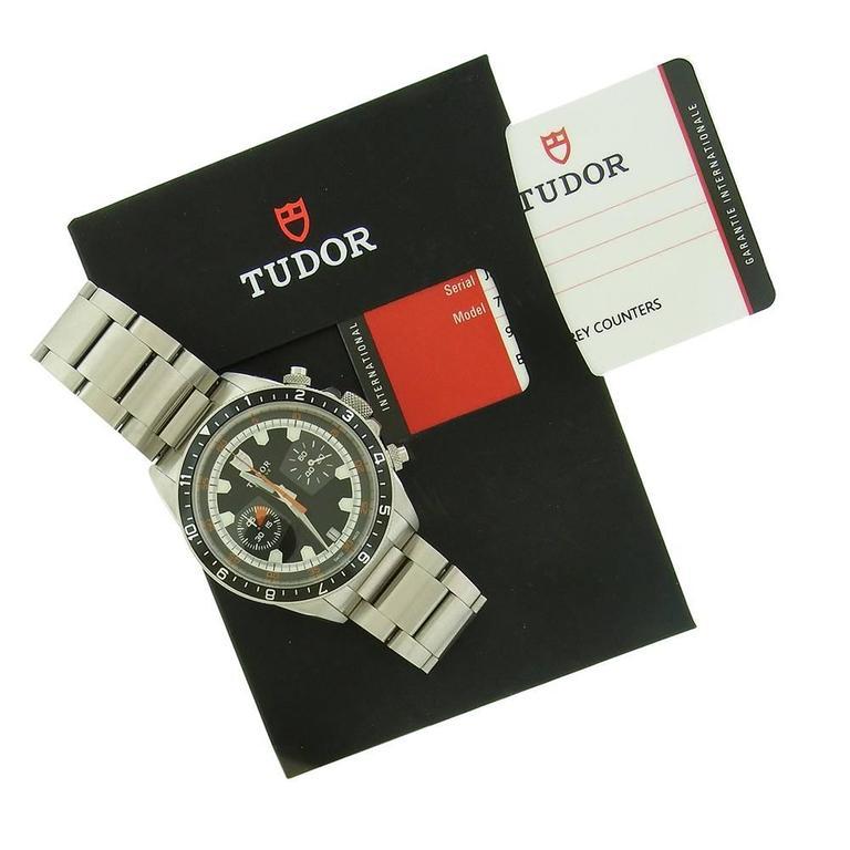 Tudor Stainless Steel Chronograph self-winding Wristwatch Ref 70330N 3