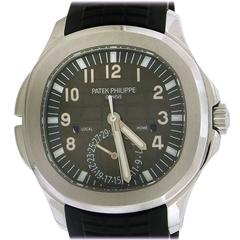 Patek Philippe Stainless steel Travel Time Aquanaut automatic Wristwatch