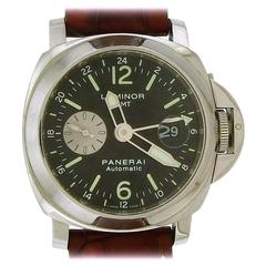 Panerai Stainless Steel Luminor GMT Automatic wristwatch Ref 6633