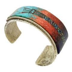 Irene and Carl Clark Yei Gemstone Mosaic Bracelet