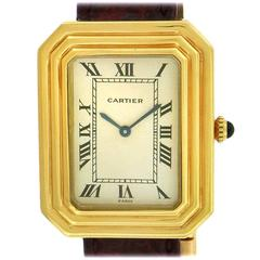 Cartier Yellow Gold Cristallore Octagonal Manual Wind Wristwatch, 1970s