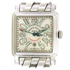 Franck Muller Stainless Steel Conquistador Cortez Self-Winding Wristwatch