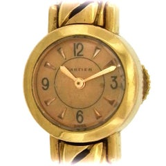 Cartier Pink Gold European Watch and Clock Co. Manual Cocktail Wristwatch