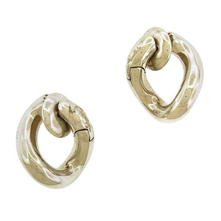 Pomellato 18 Karat White Gold Clip-On Earrings