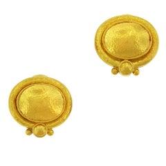 Elizabeth Gage 19 Karat Gold Clip-On Earrings