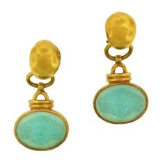 Elizabeth Locke Intaglio Clip-On Earrings