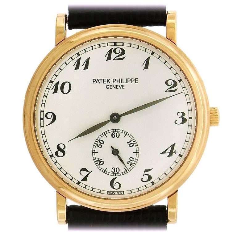 Patek Philippe Rose Gold Officer's Calatrava manual dress Wristwatch