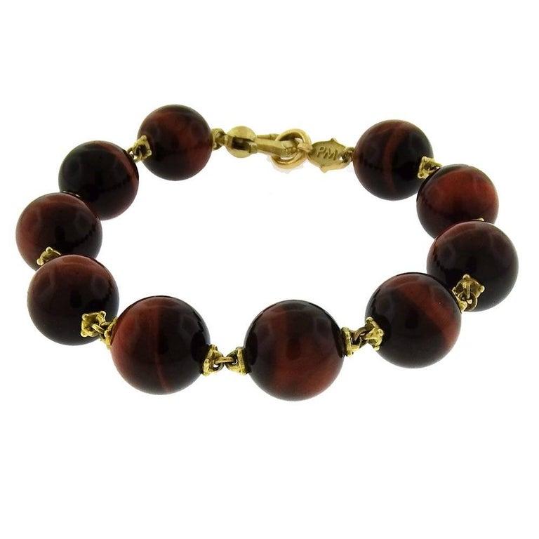 Paul Morelli, Red Tiger's Eye Bead Prayer Bracelet