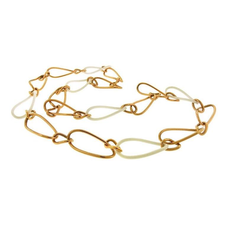 "Mattioli ""Siriana"" Rose Gold and Ceramic Necklace"