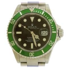 Rolex stainless steel Green Anniversary Submariner Automatic Wristwatch, 2006