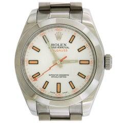 Rolex Stainless steel Milgauss Oyster Perpetual Self Winding Wristwatch