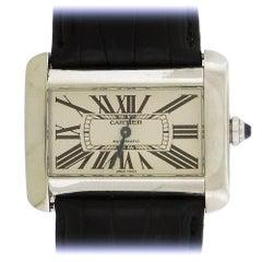 Cartier Stainless Steel Divan Automatic Wristwatch