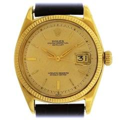 Rolex yellow Gold Datejust Vintage automatic wristwatch Ref 1601