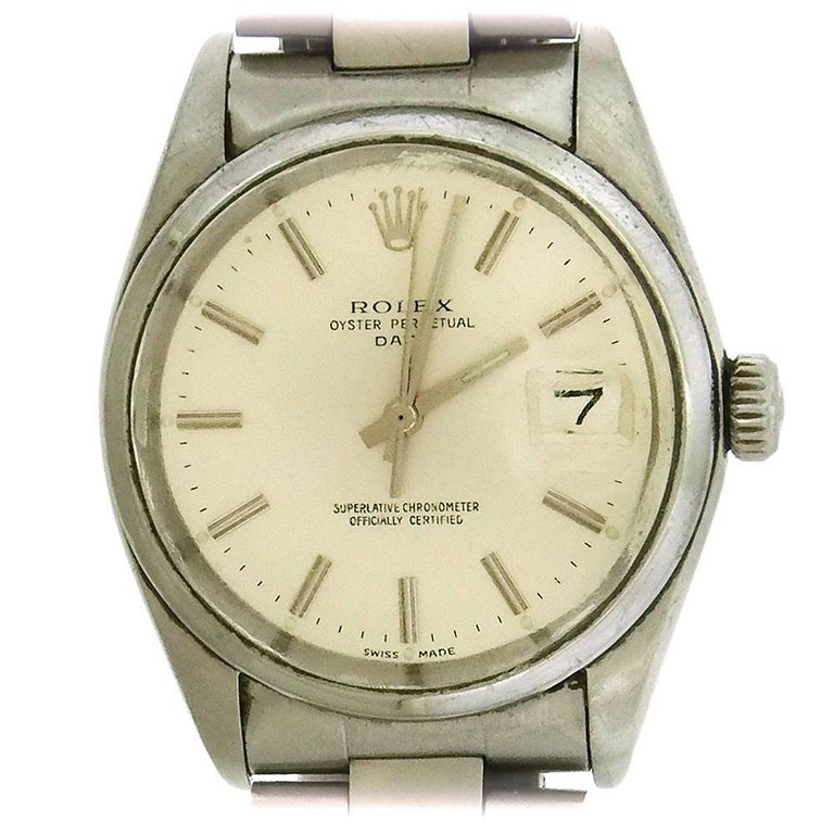 Rolex Stainless Steel Date Oyster Perpetual Automatic Wristwatch Ref 1500
