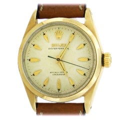 Rolex Yellow Gold Stainless Steel Golden Egg Automatic Wristwatch Ref 6634