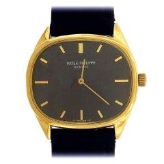 Patek Philippe yellow gold Ellipse Blue Gold Dial Manual Wristwatch, Ref 3845