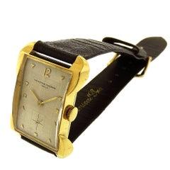 Vacheron & Constantin Yellow Gold Rectangular Tank Manual Wristwatch, circa 1952